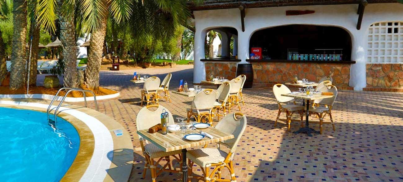 Restaurant Zéphir de l'hôtel Odyssée Resort Zarzis Tunisie pour séjour longue durée