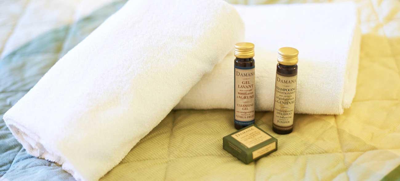 Produits de toilette de la Salle de Bain dans appartement de la résidence de tourisme Grand Avignon