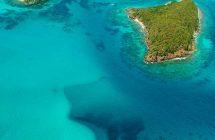 île Tobago Cay vue du ciel dans les îles Grenadines