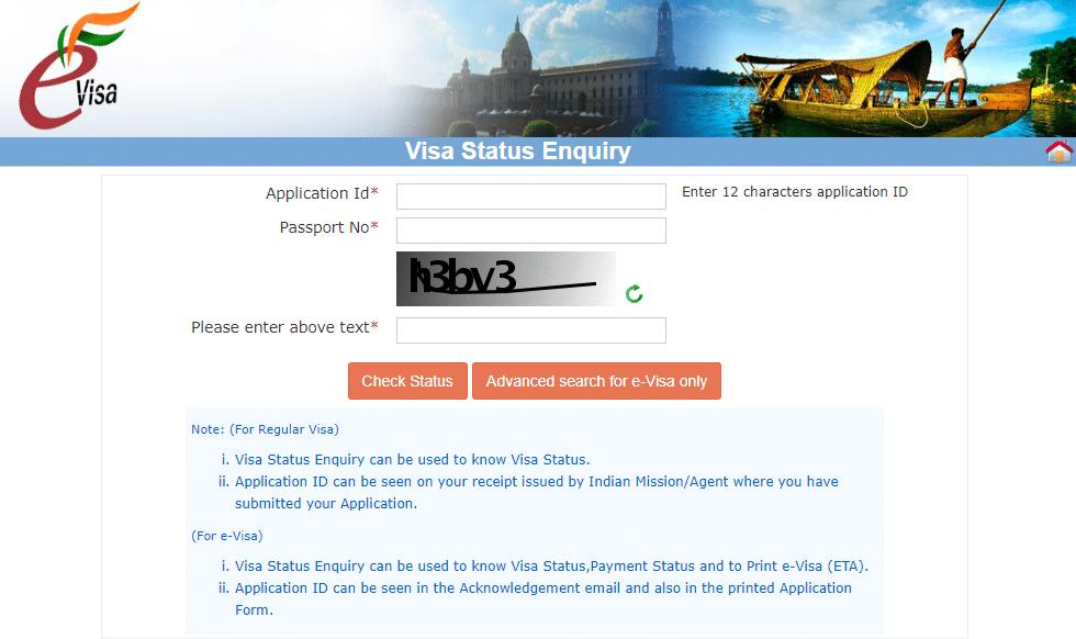 Procédure vérification Evisa pour l'Inde