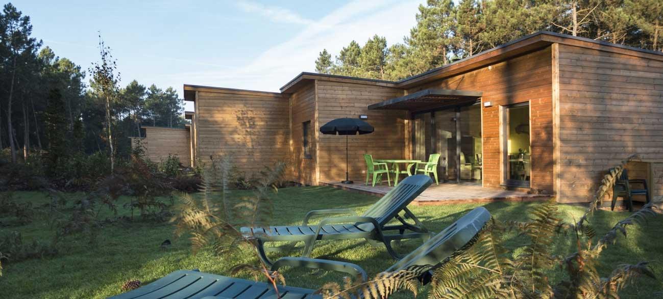 Hébergement avec terrasse Center parcs Bois aux Daim