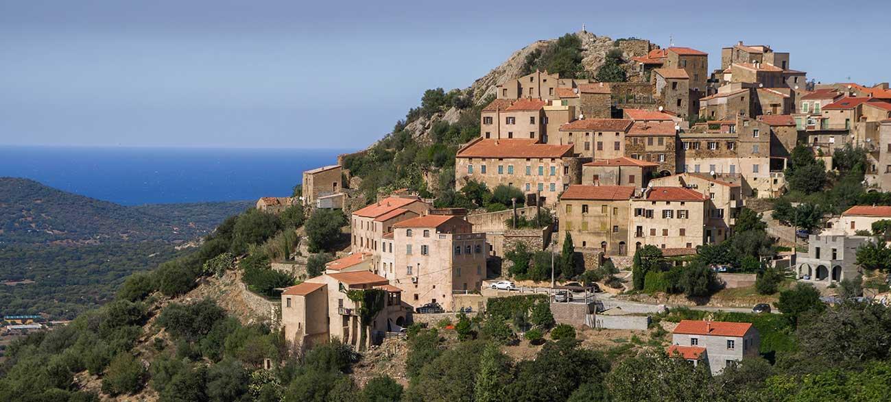 Ville de Sartène en Corse