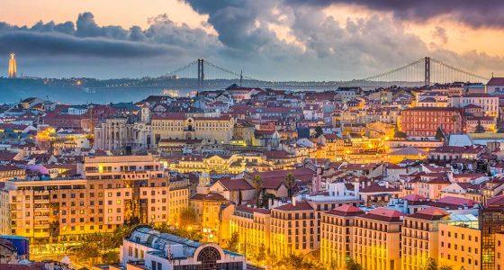 Ville de Lisbonne au Portugal