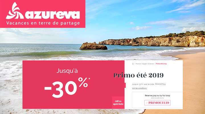 1ères minutes Azuréva : Offre Primo 2019