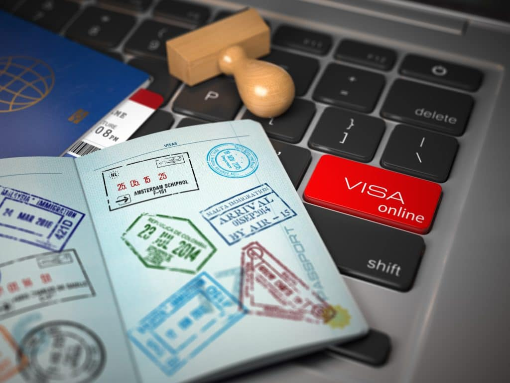 Visas sur passeports