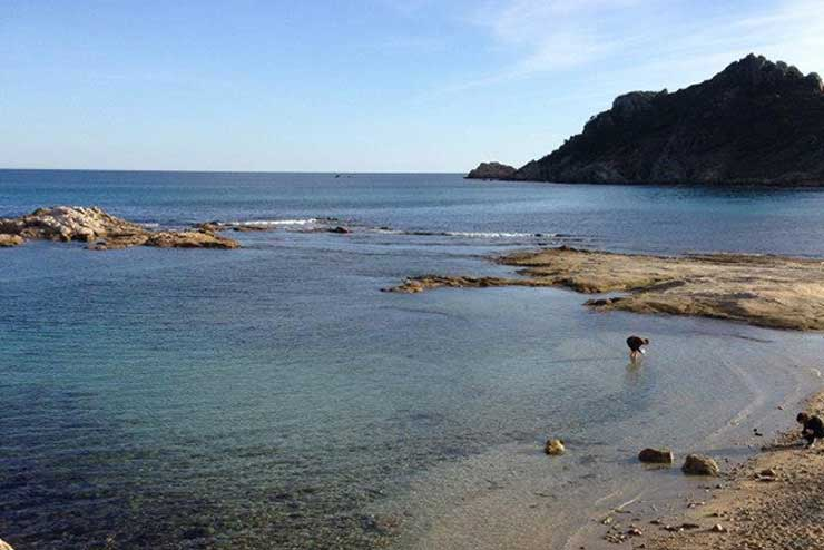 Plage sur la presqu'île de Saint-Tropez.