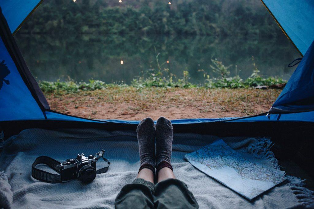 Camping sous tente en Corse
