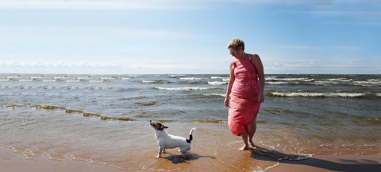 Balade avec son chien à Longeville-sur-Mer