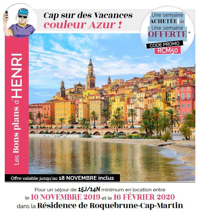 Roquebrune 1 semaine achetée 1 semaine offerte
