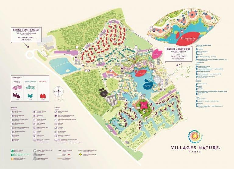 plan des Villages Nature Paris