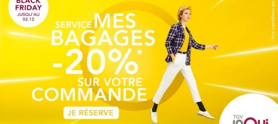 Black Friday service SNCF Mes bagages en promotion