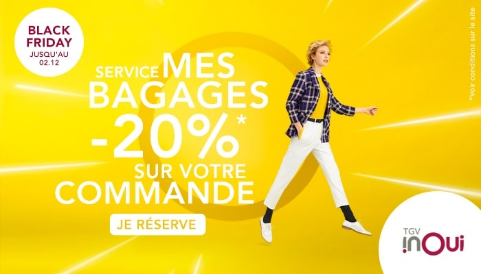 Black Friday service SNCF Mes bagages en promotion