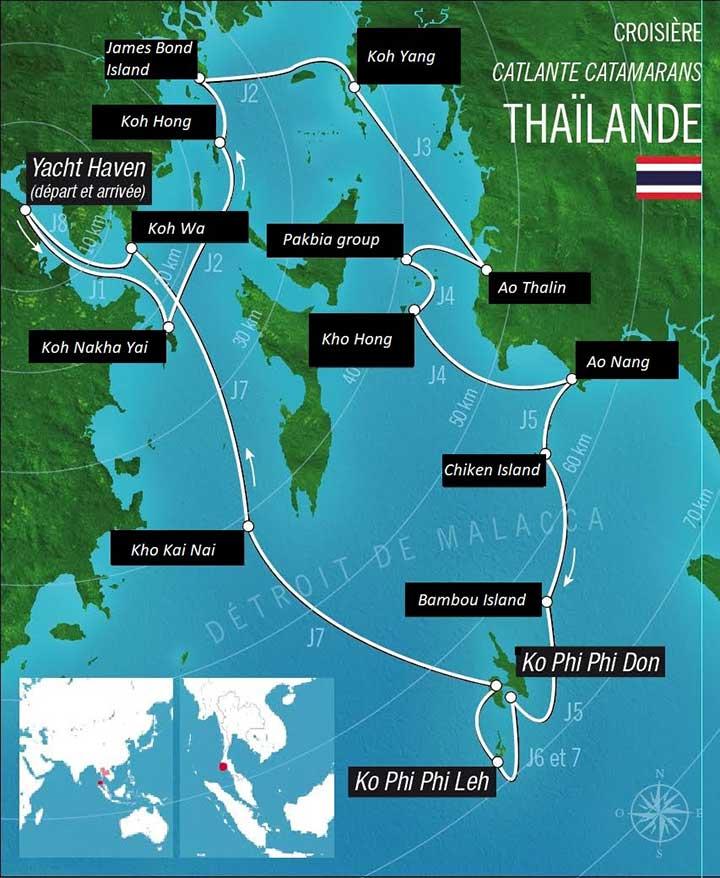 Carte de la Croisière Thaïlande
