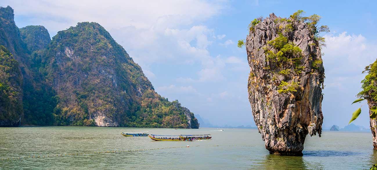 Pitons calcaires dans la Baie de Phang Nga - Croisière Thaïlande