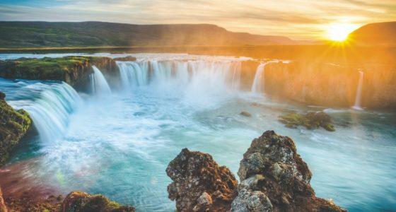 Chute eau de Godafoss en Islande