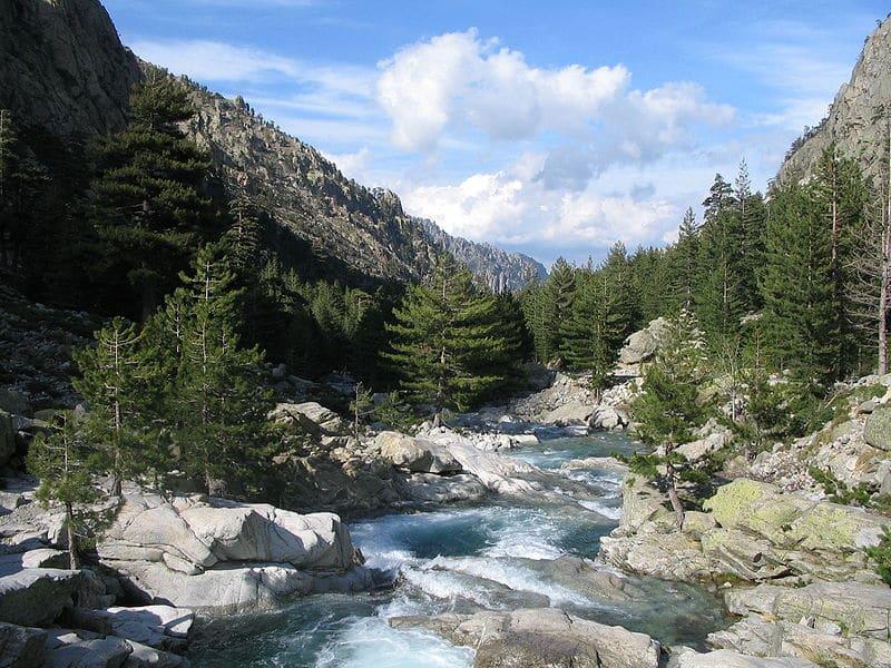 Rivière et gorges de la Restonica en Haute Corse