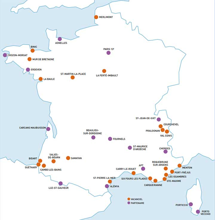 Villages vacances, clubs et locations Vacanciel