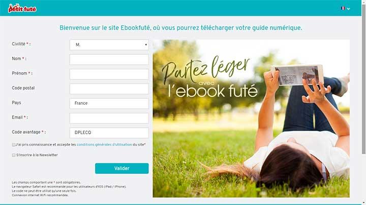 Formulaire de demande de téléchargement du guide Petit Futé gratuit