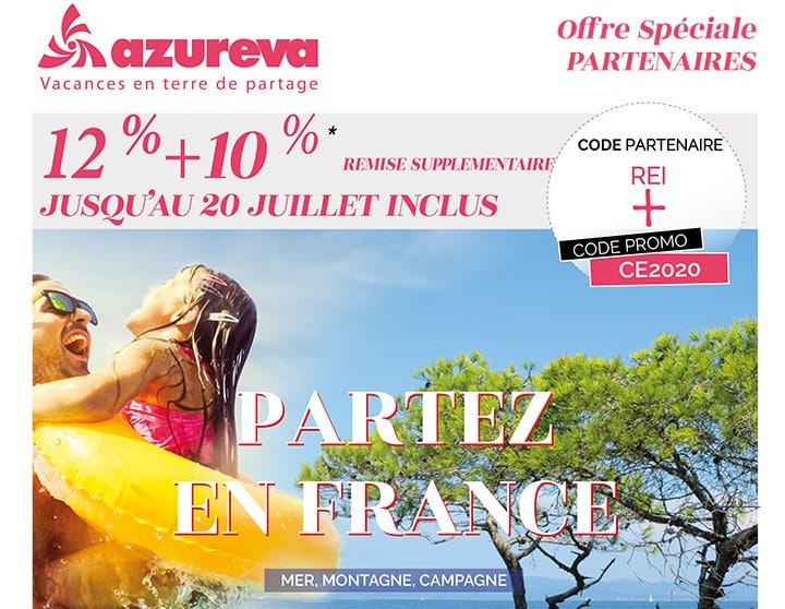 Offre promo spéciale partenaire Azureva