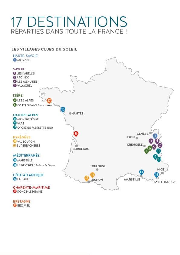 Destinations Villages Clubs du Soleil