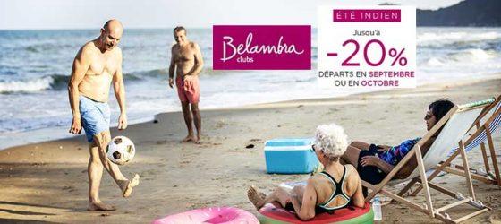 Promotion été indien Belambra
