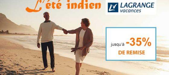 Offre Eté Indien- Départs Septembre -35%
