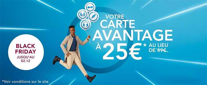 Carte avantage Senior à 25€ pour le Black Friday