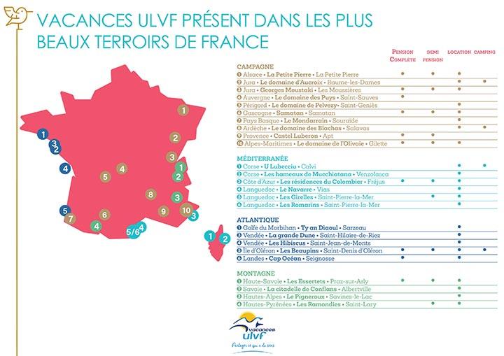 Destinations Vacances ULVF