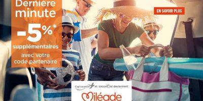 Offres dernière minute Miléade sur vos vacances en juillet