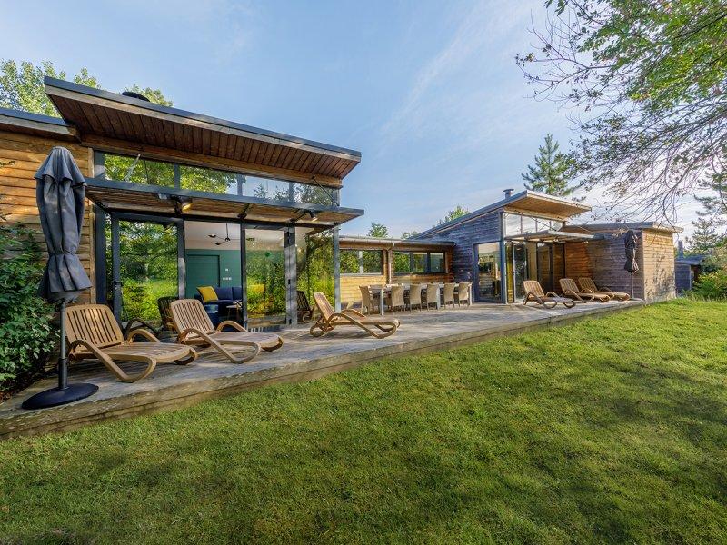 Cottage Bois VIP nouveau design Domaine Center Parcs Les Hauts de Bruyères