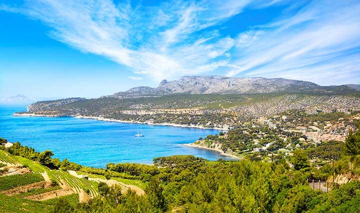 Paysage en hiver sur la Côte d'Azur