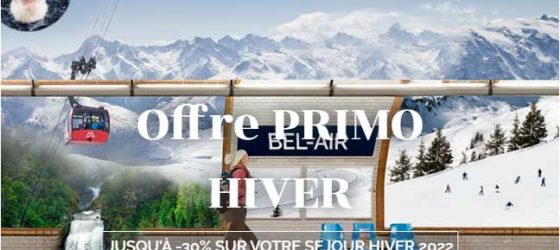 Première Minute Azureva : offre PRIMO hiver 2022